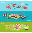 Seafood banner set vector image vector image