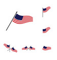 set american flag design template icon symbol vector image vector image