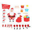 set of different icons for merry xmas from santa vector image vector image