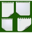 Set of torn paper sheets vector image vector image