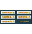 set rectangular horizontal buttons exchange vector image vector image