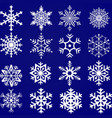 snowflakes set pack of snowflakes design vector image vector image