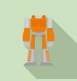 space robot transformer icon flat style vector image vector image