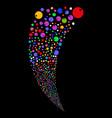 sphere random stream vector image vector image