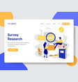 survey research concept vector image
