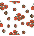 tomato seamless pattern on white background vector image