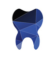 tooth icon Abstract Triangle vector image