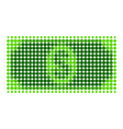 usd banknote halftone dotted icon vector image