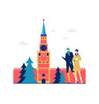 visit russia - colorful flat design style vector image