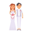 Wedding lesbian couples characters vector image vector image