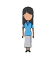 woman character female standing avatar people vector image vector image