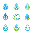 water and oil logo design elements