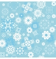 blue seamless background with snowflakes vector image