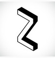 3d letter z logo icon design template element vector image vector image