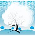A snowy season vector image vector image