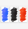 abstract ink color splash banners set vector image