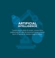 artifical intelligence design vector image