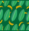 banana leaves seamless pattern vector image vector image