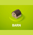 barn isometric icon isolated on color background vector image vector image