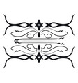 black and white beautiful traditional ornament vector image vector image