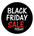 black friday sale banner for website poster and vector image vector image