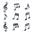 black monochromatic musical notes and symbols vector image