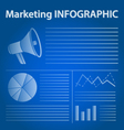 blue marketing infographic concept vector image vector image