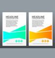 brochure design template bright shapes on white vector image