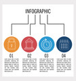 business and education infographic vector image vector image
