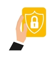 business security concept flat icons vector image vector image