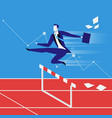 business steeplechase concept vector image vector image