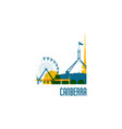 canberra city emblem colorful buildings vector image vector image
