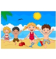 Cartoon summer day vector image vector image