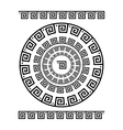 Circle ornament meander Round frame rosette of vector image