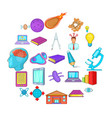 cognizance icons set cartoon style vector image vector image