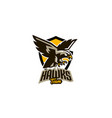 colorful emblem badge logo flying eagle bird vector image vector image