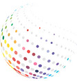 colorful globe with halftone vector image vector image