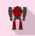 computer robot transformer icon flat style vector image vector image
