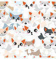 cute baby fox pattern vector image