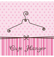 cute hanger vector image