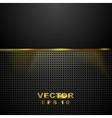 Dark tech perforated background with glowing light vector image vector image