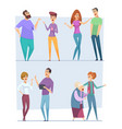 dialogue people expression characters pointing vector image vector image