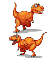 Dinosaur with sharp teeth vector image vector image