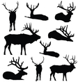 Elk Silhouette Deer Animal Digital Clip Art