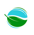 environmentally friendly product logo or icon vector image vector image