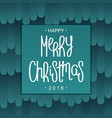 festive merry christmas design vector image