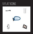 flat parts set of input technology cambelt vector image vector image