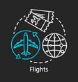 flights chalk icon plane travel airplane flying vector image