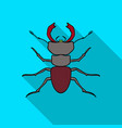 forest red ant icon in flat style isolated on vector image