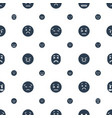 frustrated icons pattern seamless white background vector image vector image